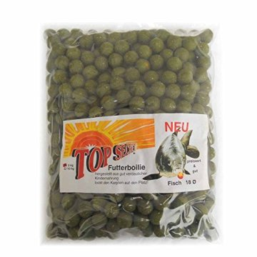 Orginal Top Secret Futterboilie 18mm 3000g Sorte Fisch Boilie - 1