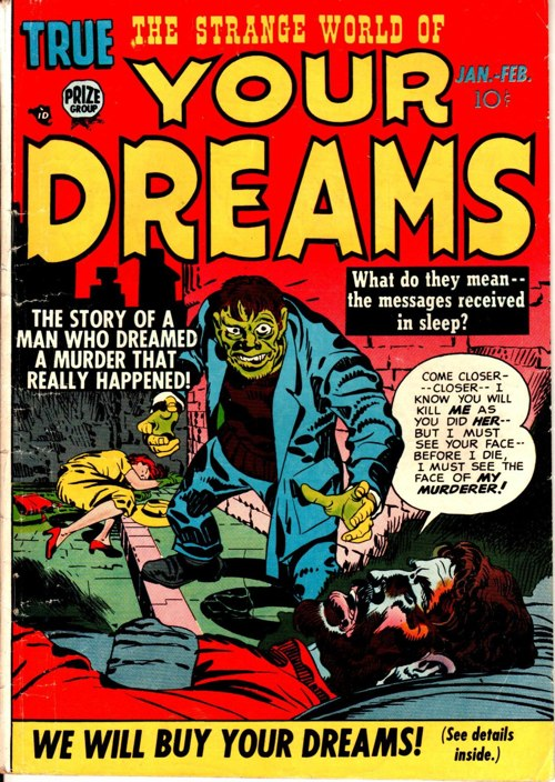 The Strange World Of Your Dreams 1950s Comic Book By Jack Kirby And