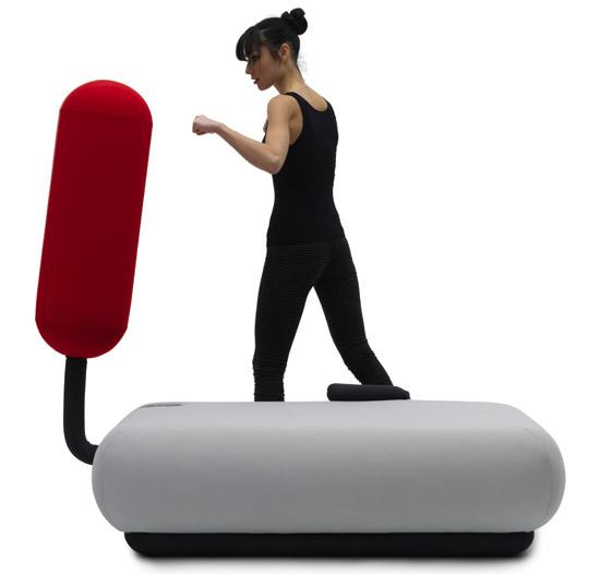 sofa turns into a punching bag boing boing
