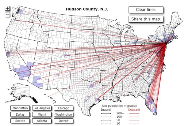 Interactive Map Of US Migration Patterns Boing Boing - Interactive map of migration in the us