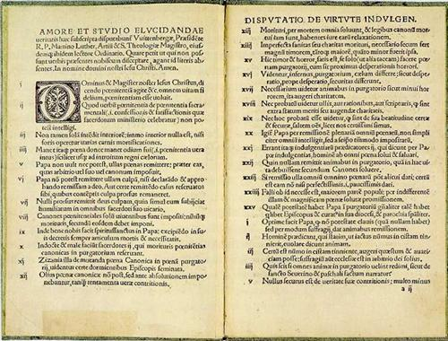 1522 edition of Luther's 95 Theses