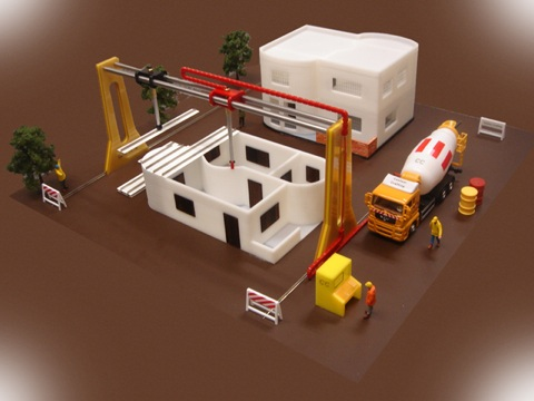 2D Rendering of a 3D Rendering - a House Printer!