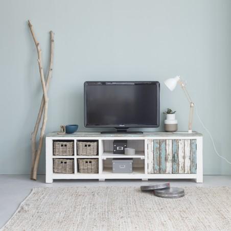 meuble tv en bois de pin recycle 180