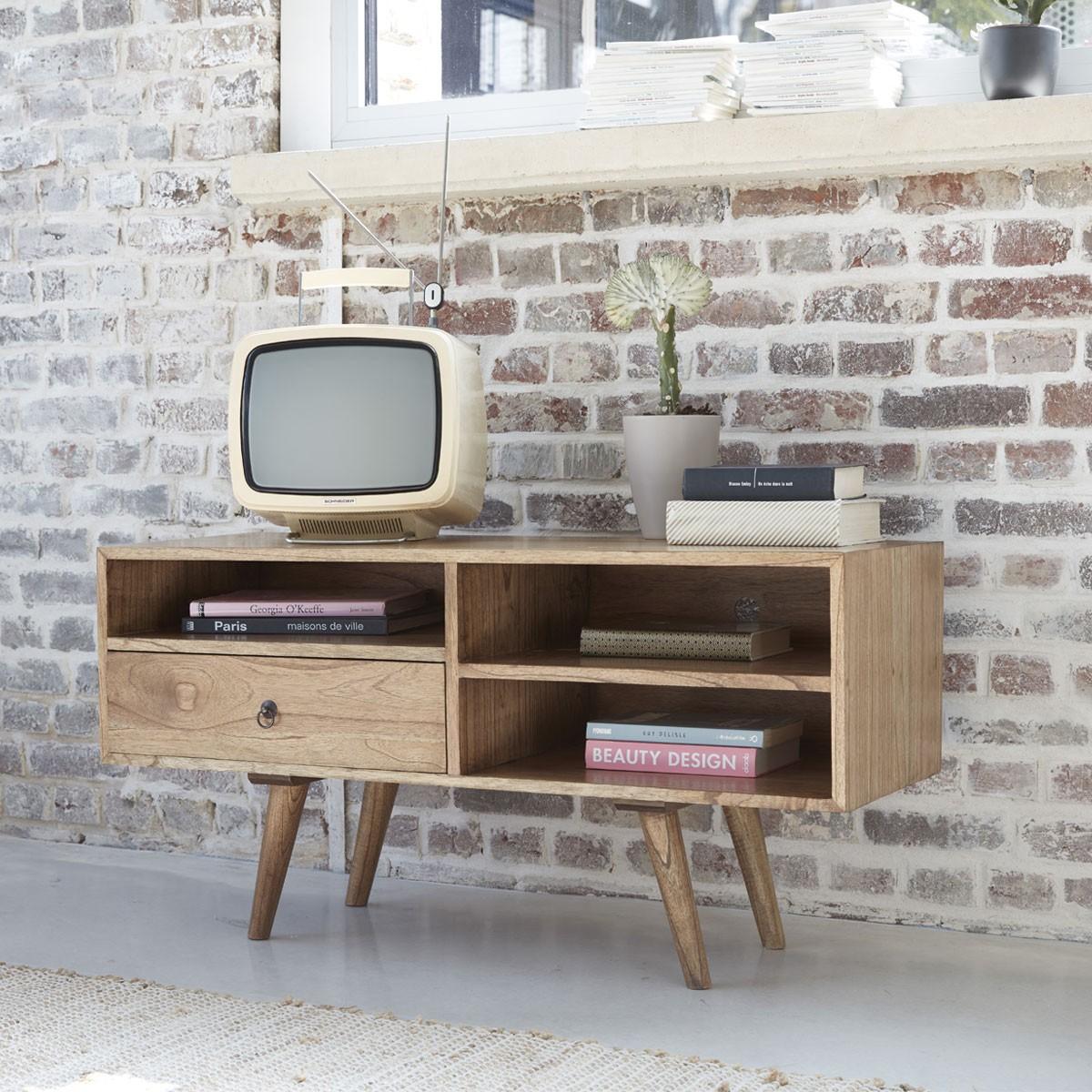 meuble tv en bois de mindy 110 oslo
