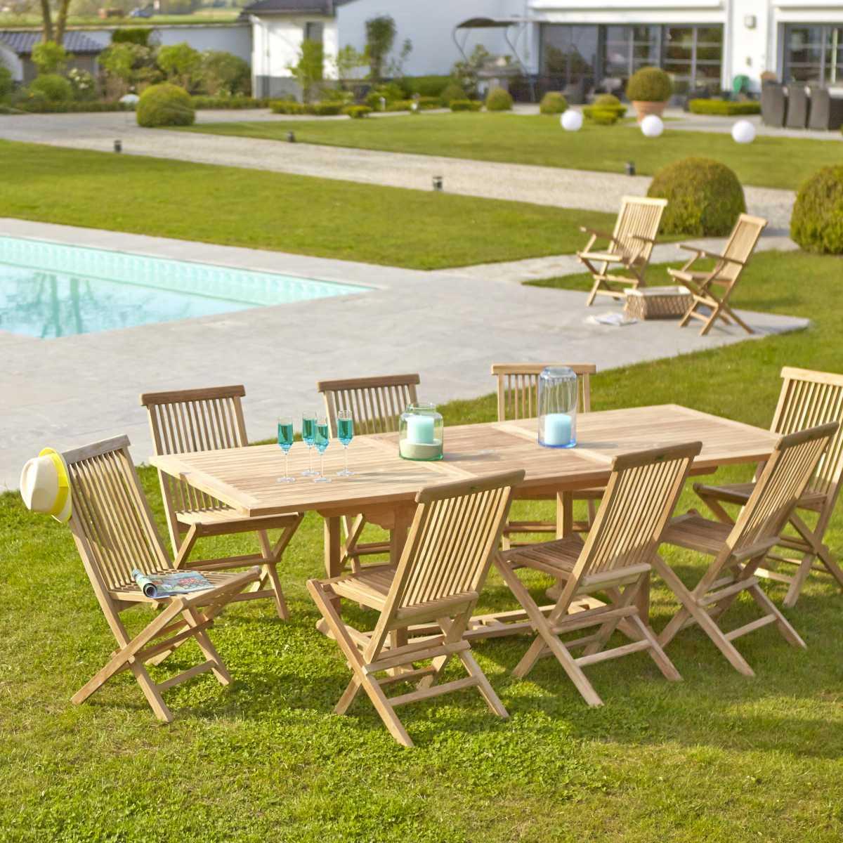 Fabulous Salon De Jardin En Bois De Teck Midland Places