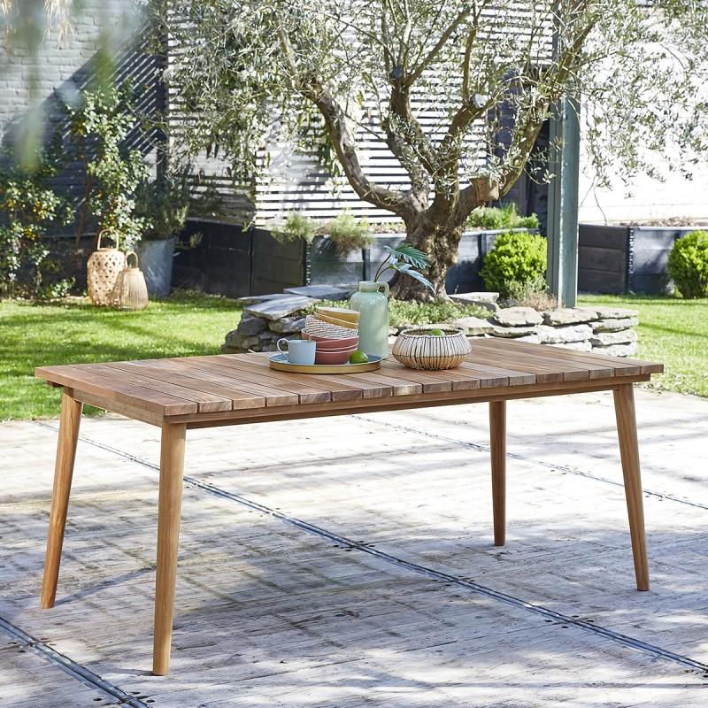 table de jardin rectangulaire en teck 6 8 places midland