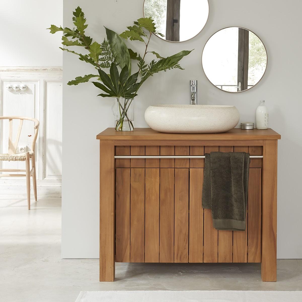 meuble de salle de bain en bois de teck 103 porto