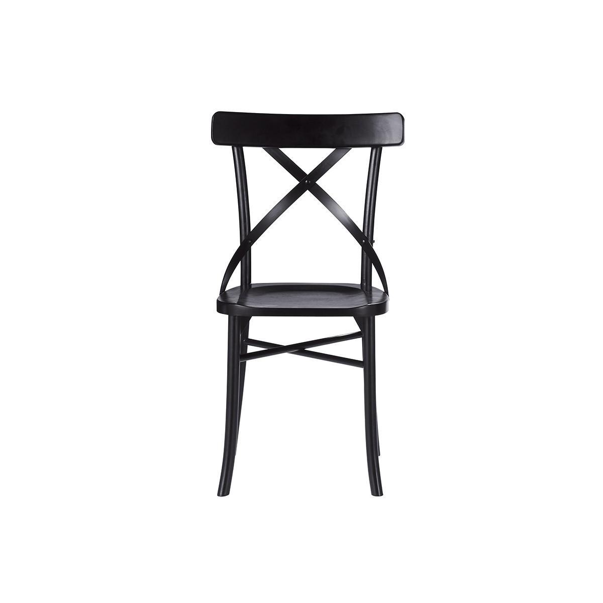 chaise bistrot en bois d acajou londres noire