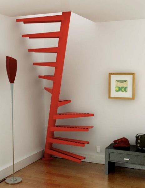 10 Of The Most Cool Space Saving Staircase Designs Boise Northender   Space Saving Staircases For Small Homes   Design   Attic Ladder   Wood   Ladder   Loft Stairs