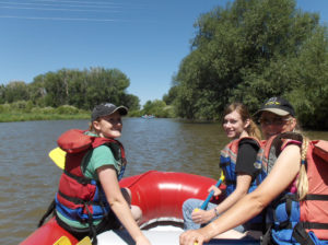 Group float Boise River