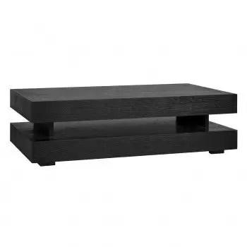 table basse rectangulaire noir blok h chene oakura