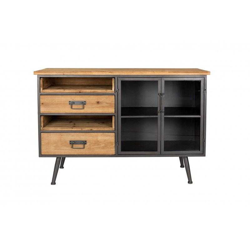 buffet style industriel bois et metal damian boite a design