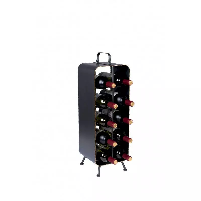 casier bouteille de vin industriel dutchbone stalwart