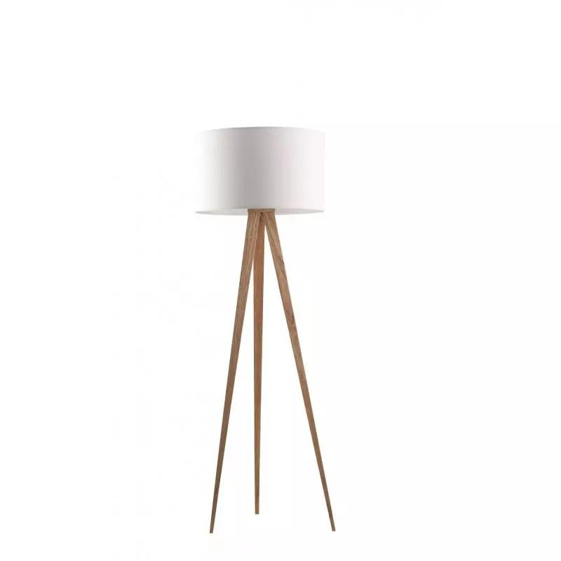 lampadaire tripod wood au look scandinave de chez zuiver