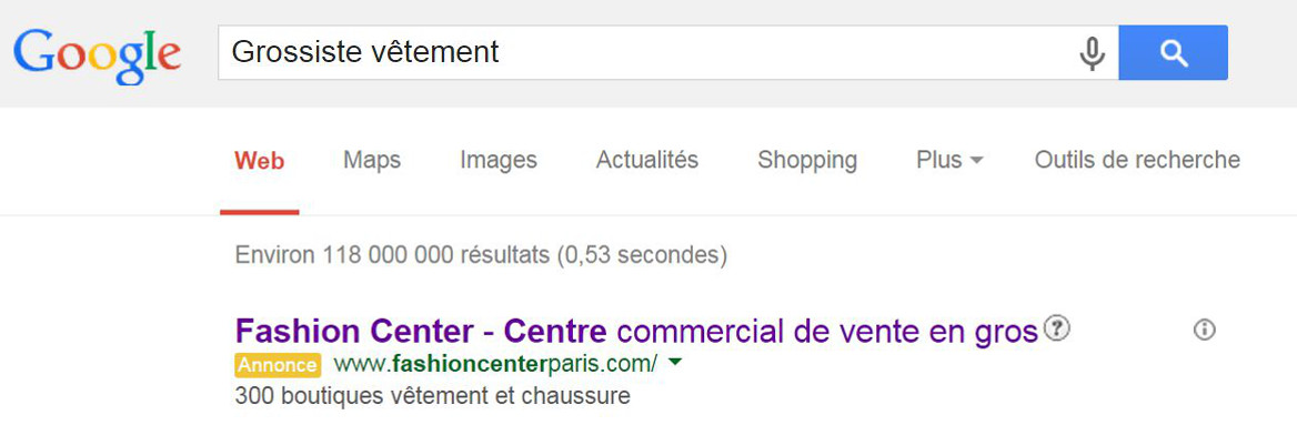 grossiste vetement pub-google grossiste vetement Fashion Center Paris