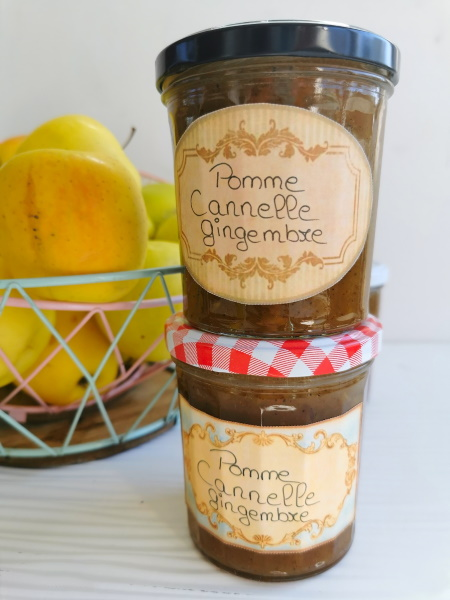 Confiture pomme cannelle gingembre
