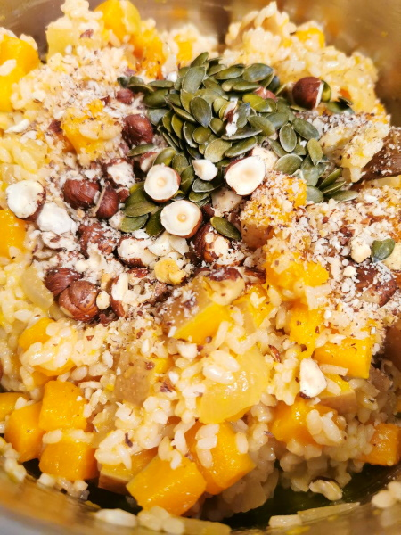 Risotto butternut noisette et graines de courge