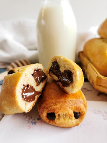 Pains au chocolat, au levain naturel