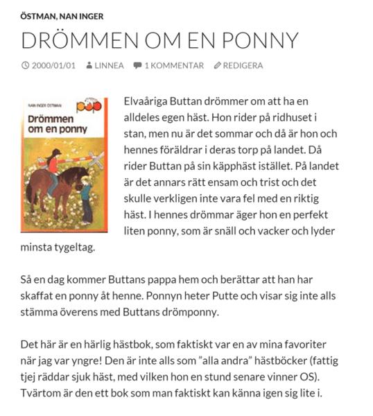 Nostalgitorsdag - Drömmen om en ponny