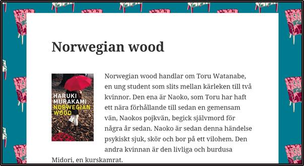 Nostalgitorsdag - Norwegian wood
