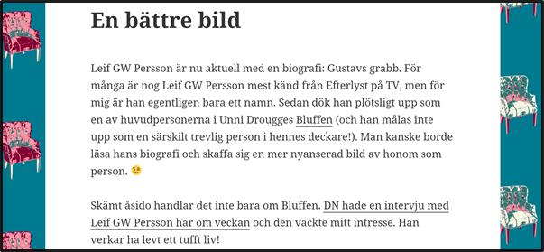 Nostalgitorsdag - Leif GW Persson