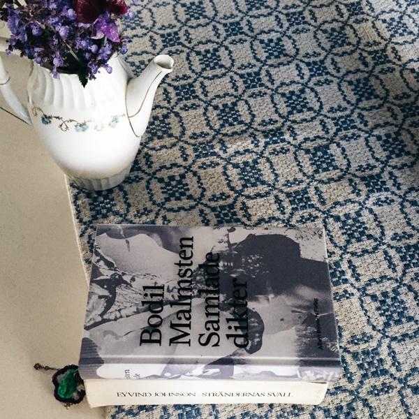 Strändernas svall av Eyvind Johnson och Samlade dikter av Bodil Malmsten