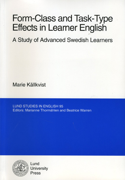 Form-Class and Task-Type Effects in Learner English: A Study of Advanced Swedish Learners