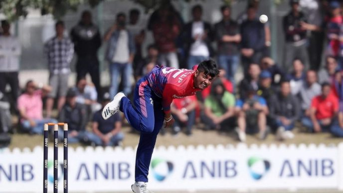 Sandeep Lamichhane took two wickets Vs UAE 2nd T20I