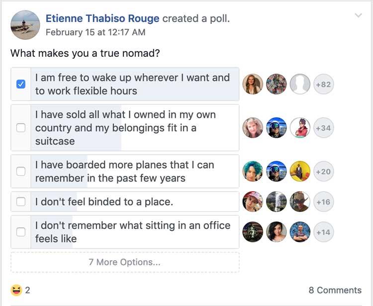 Facebook-poll - Bold & Zesty