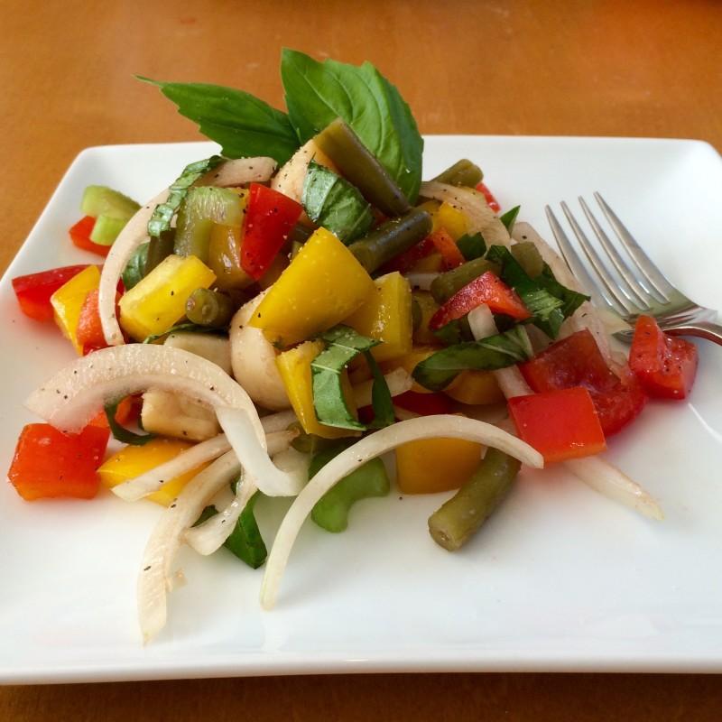 Bolder Beans salad on a plate