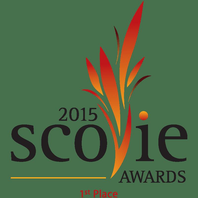 Scovie Awards 2015 1st Place logo