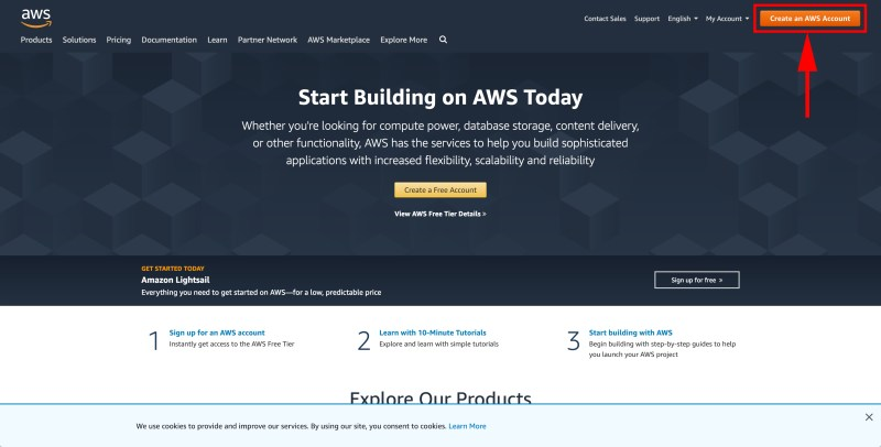 Create an AWS account | Boldermail