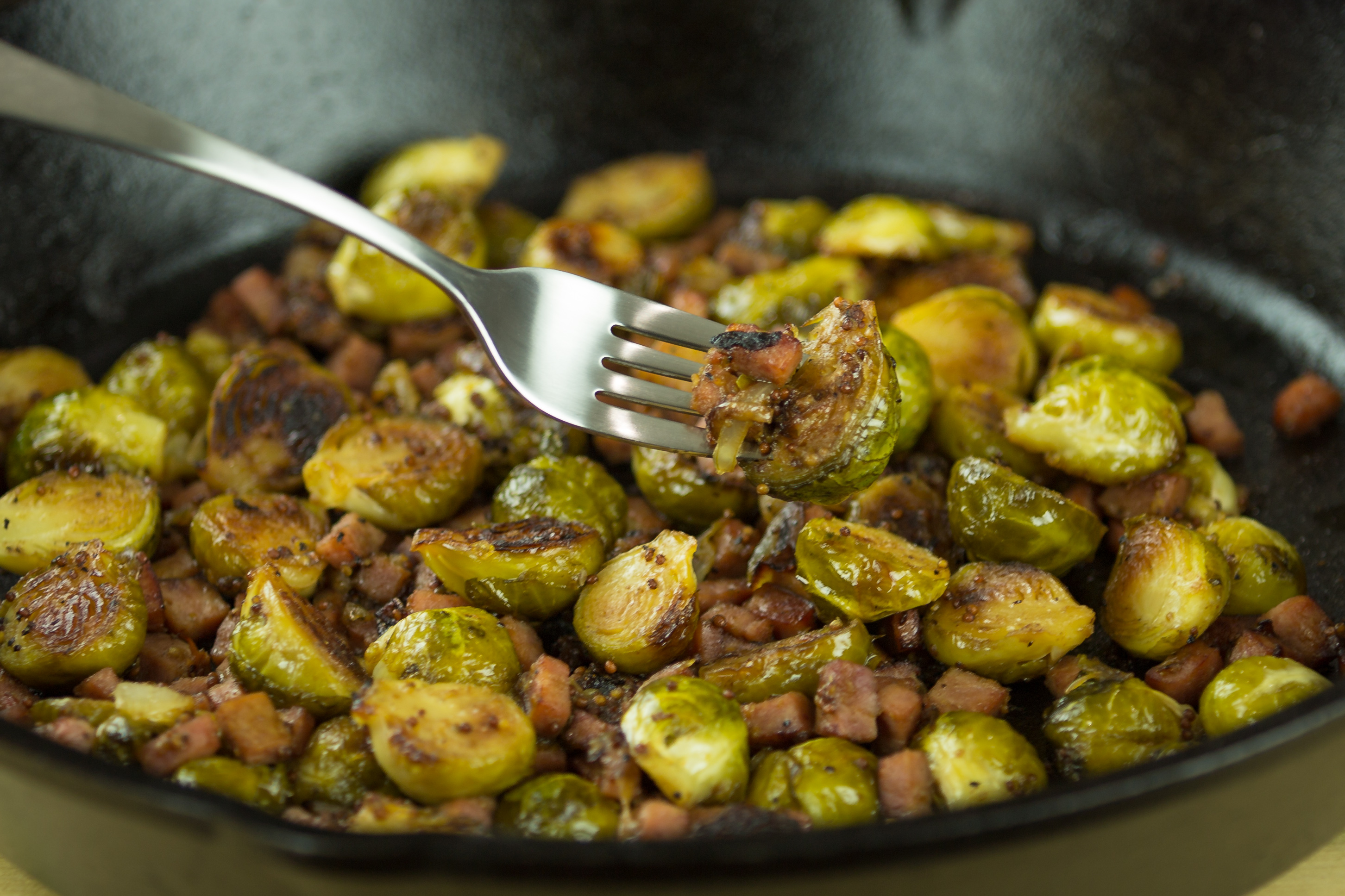 Bourbon Glazed Brussel Sprouts