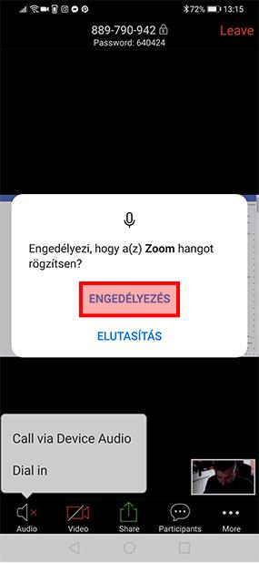 HLBS Zoom Android csatlakozási segédlet, útmutató