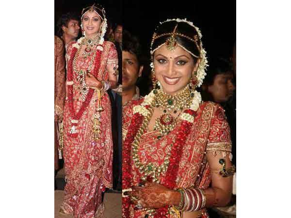 hilpa Shetty Wedding Saree