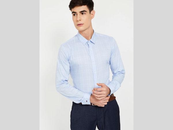 Blue pant combination with plain blue shirt