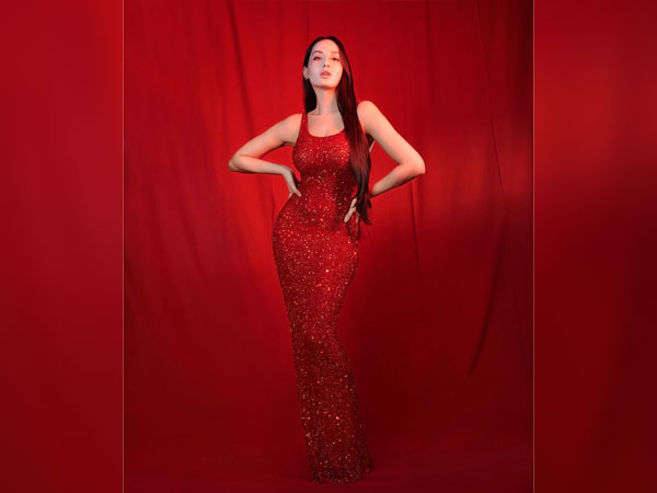 Nora Fatehi In A Red Sequin Gown