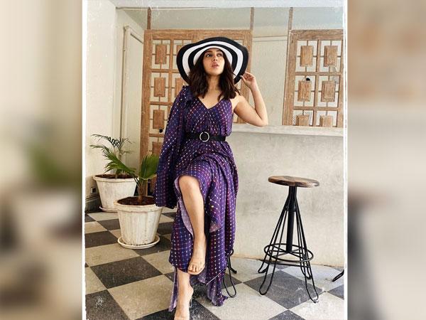 Bhumi Pednekar In Purple Kaftan Dress