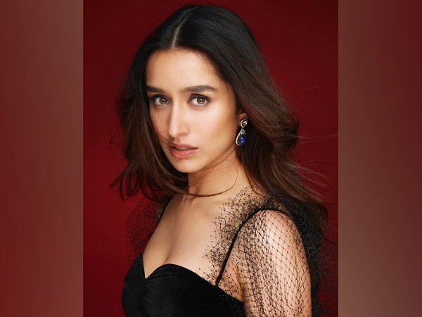 Shraddha Kapoor In A Blue And Black Gown