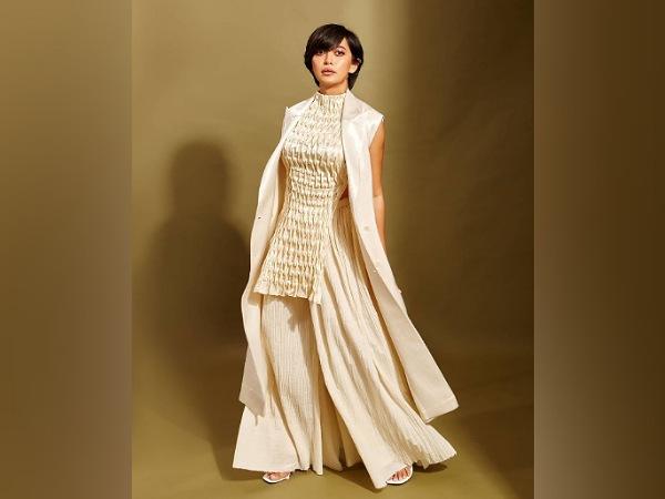 Sayani Gupta In A Golden-White Palazzo Set