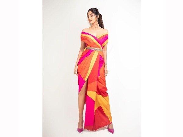 Shilpa Shetty's Colourblocked Dress