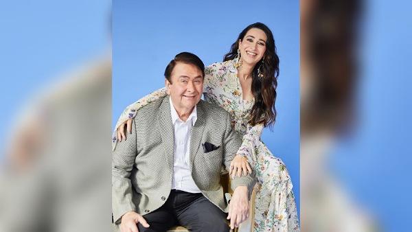 Photos of Karisma Kapoor with father Randhir Kapoor