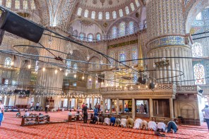Blue Mosque (Sultan Ahmet Camisi) before prayer time Istanbul Turkey