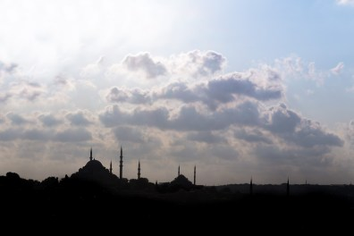 Silhouetted view from Topkapi Palace