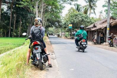 Driving from Yogyakarta to Borobudur