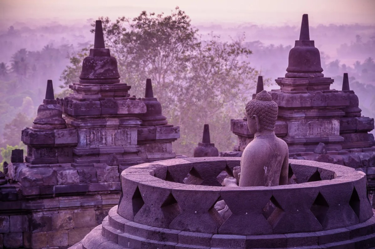 Our favorite moments were just before light broke over Borobudur at sunrise