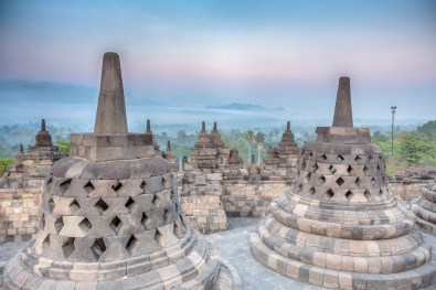 We paid the extra $8US to get into the park pre-dawn hours for Borobudur sunrise