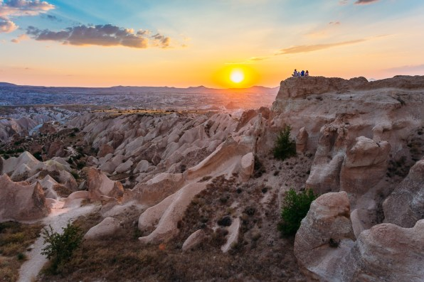 Sunset point above the Red Valley is the place to be for sunset in Cappadocia