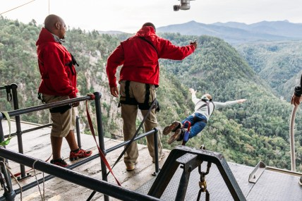 Stepping up for the biggest adrenaline rush of my life at Bloukrans Bridge bungee