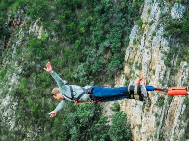 Full body adrenaline rush after my Bloukrans Bridge bungee jump in South Africa